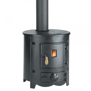 Suitable for burning wood or coal using the removable cast iron grate.