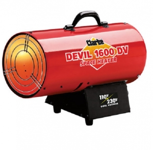 Clarke Devil 1600DV Propane Heater - Dual Voltage