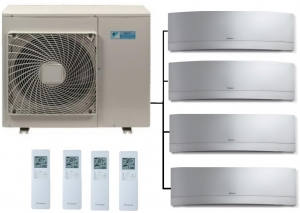 Daikin 4MXM68N Outdoor Unit - 4 Emura Indoor Units