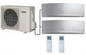 Daikin 2MXS40H Outdoor Unit - 2 Emura Indoor Units
