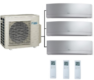 Daikin 3MXS68G Outdoor Unit - 3 Emura Indoor Units