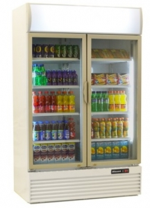 Blizzard GD1000 Double Glass Door Merchandiser