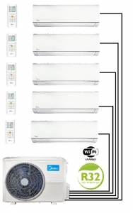 Midea M50-42FN8-Q Multi Outdoor Unit - 5 Wall Mounted Indoor Units