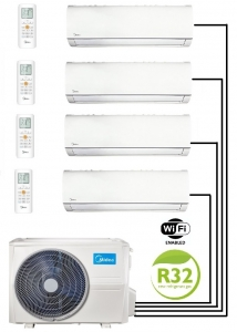 Midea M40-36FN8-Q Multi Outdoor Unit - 4 Wall Mounted Indoor Units