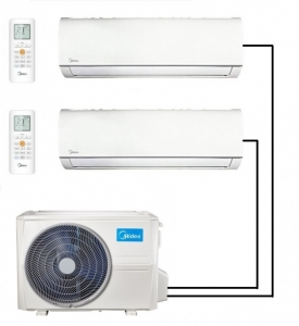 Midea M20-18FN8-Q Outdoor Unit - 2 Wall Mounted Indoor Units