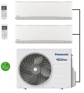 Panasonic CU-2Z50TBE Outdoor Unit - 2 Indoor Units