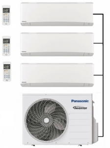 Panasonic CU-3Z68TBE Outdoor Unit - 3 Indoor Units