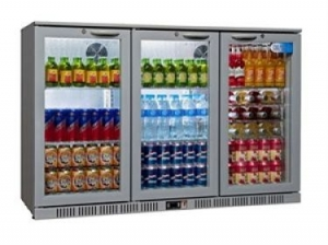 Sterling SP3BC-SH Triple Hinged Door Bottle Cooler Silver
