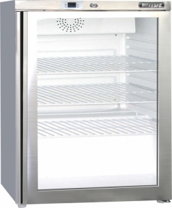 Blizzard UCF140CR Glass Door Under Counter Freezer