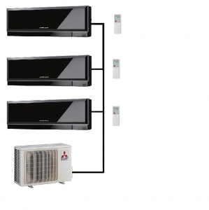 Mitsubishi Electric Outdoor Unit MXZ-4E83VA - 3 Zen Indoor Units