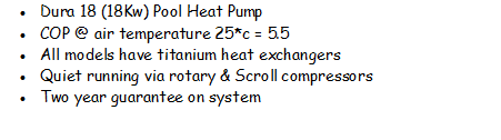 Swimming Pool Heat Pump Dura 18