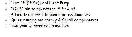 Swimming Pool Heat Pump Dura 18