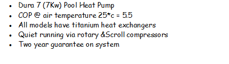 Dura 7 Swimming Pool Heat Pump