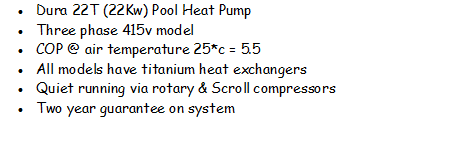 Dura 22T - swimming pool heat pump