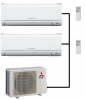 Mitsubishi Electric Outdoor Unit MXZ-2F33VF - 2 Wall Mounted Units
