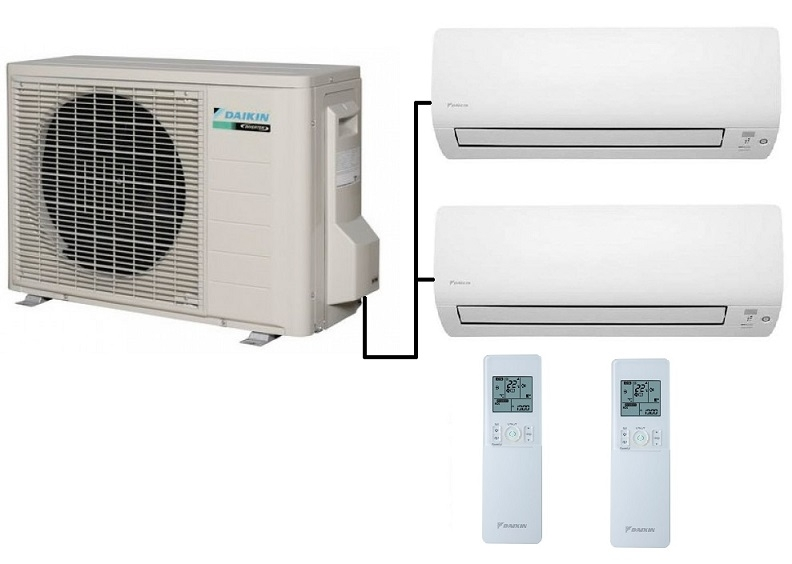 Indoor Heating And Cooling Units : Daikin mxs h twin split heat pump