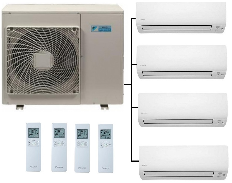Daikin 4mxs80e With Ftxs Wall Units