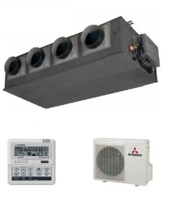 Mitsubishi Fdum140vf Ducted Inverter Air Conditioning Unit