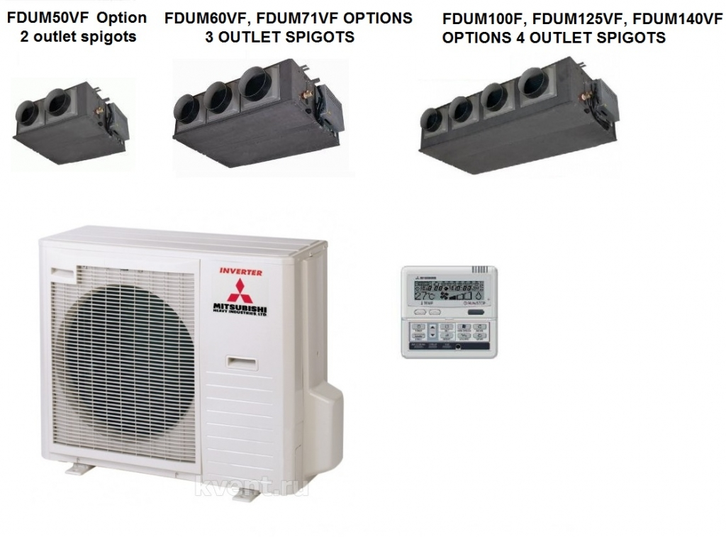 Mitsubishi Fdumvf Ducted Air Conditioning Heat Pump