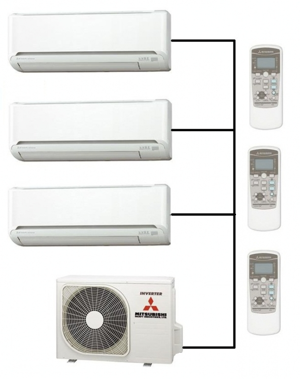 Mitsubishi Heating Cooling Wall Unit : Mitsubishi air conditioning scm zm s
